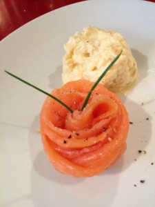 Oak smoked salmon and scrambled eggs